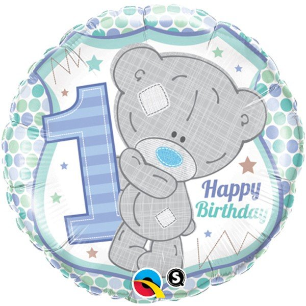 Qualatex 18 Inch Round Foil Balloon - Me To You 1st Bday Boy