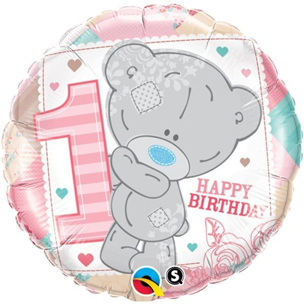 Qualatex 18 Inch Round Foil Balloon - Me To You 1st Bday Girl