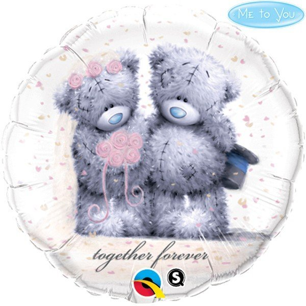 Qualatex 18 Inch Round Foil Balloon - Me To You Together Forever