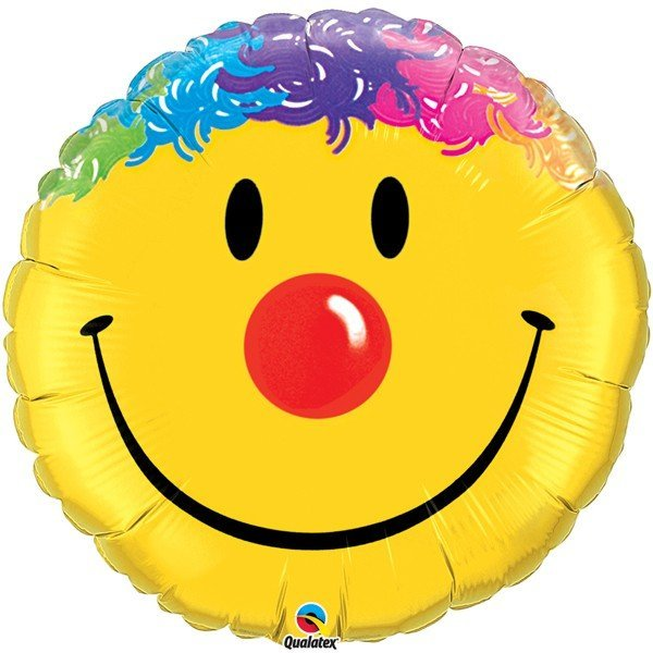 Qualatex 18 Inch Round Foil Balloon - Smile Face
