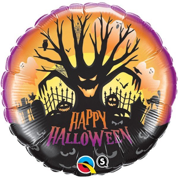 Qualatex 18 Inch Suprafoil Balloon - Spooky Tree