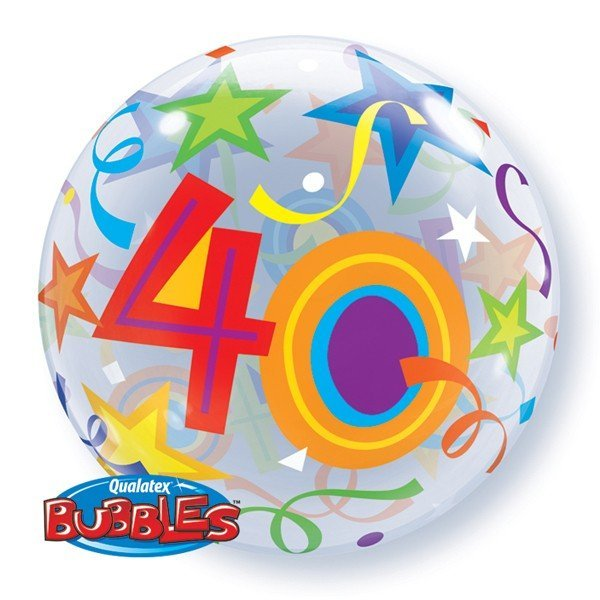 Qualatex 22 Inch Single Bubble Balloon - 40 Brilliant Stars