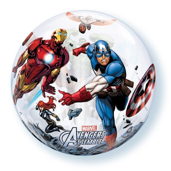 Qualatex 22 Inch Single Bubble Balloon - Avengers Assemble