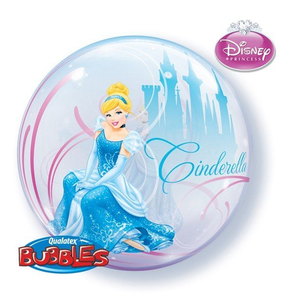 Qualatex 22 Inch Single Bubble Balloon - Cinderellas
