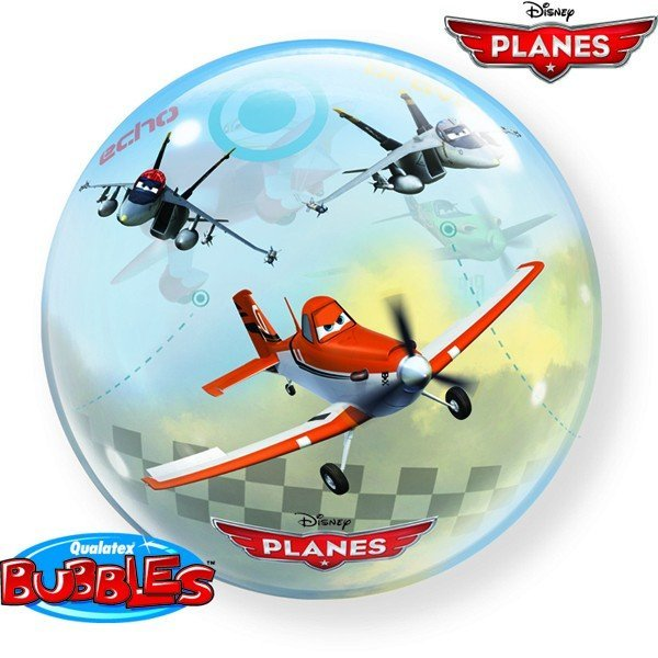 Qualatex 22 Inch Single Bubble Balloon - Disney Planes