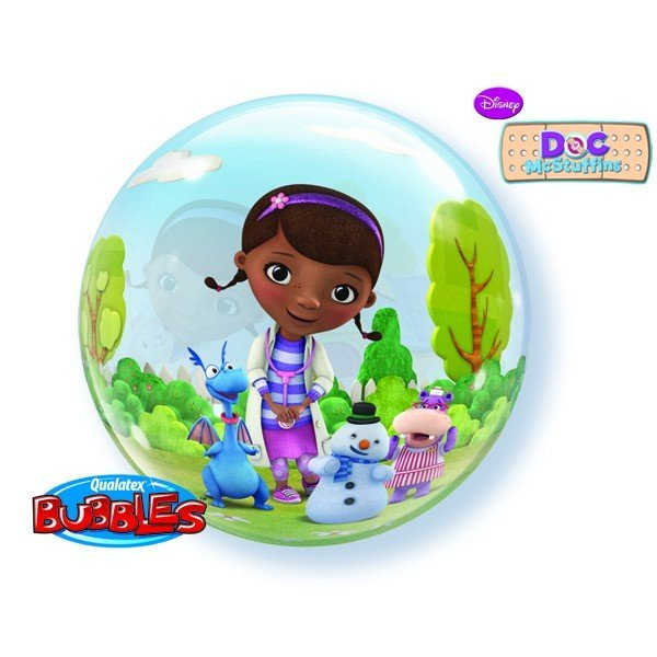 Qualatex 22 Inch Single Bubble Balloon - Doc Mcstuffins