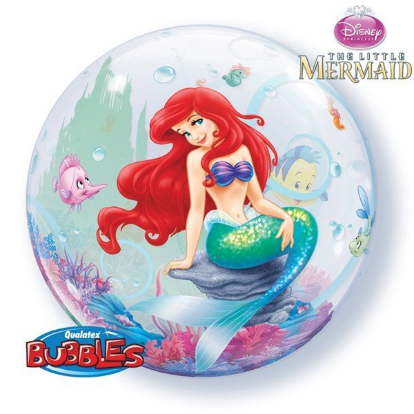 Qualatex 22 Inch Single Bubble Balloon - Little Mermaid