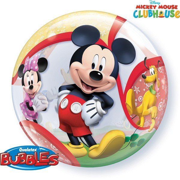 Qualatex 22 Inch Single Bubble Balloon - Mickey Mouse
