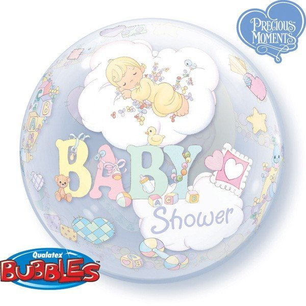 Qualatex 22 Inch Single Bubble Balloon - Precious Moments Baby Shower