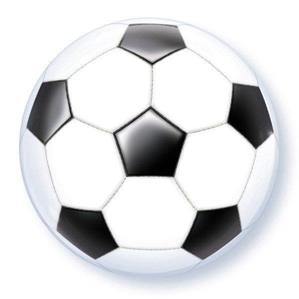 Qualatex 22 Inch Single Bubble Balloon - Soccer Ball