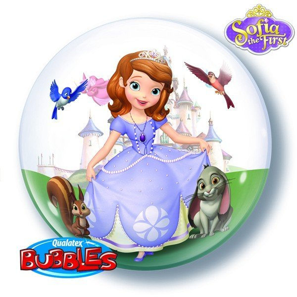 Qualatex 22 Inch Single Bubble Balloon - Sofia The First