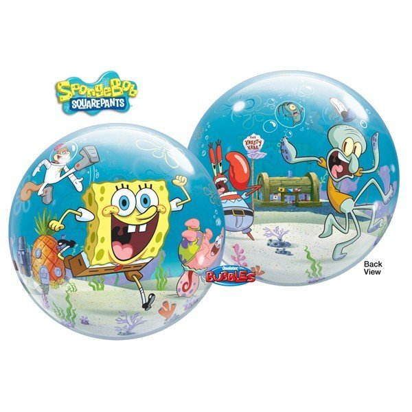 Qualatex 22 Inch Single Bubble Balloon - Spongebob