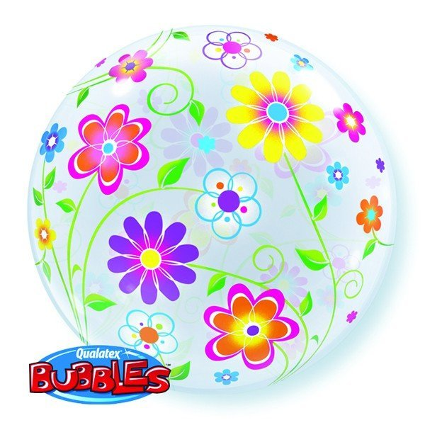 Qualatex 22 Inch Single Bubble Balloon - Spring Floral Patterns