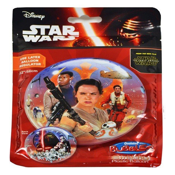 Qualatex 22 Inch Single Bubble Balloon - Star Wars The Force Awakens
