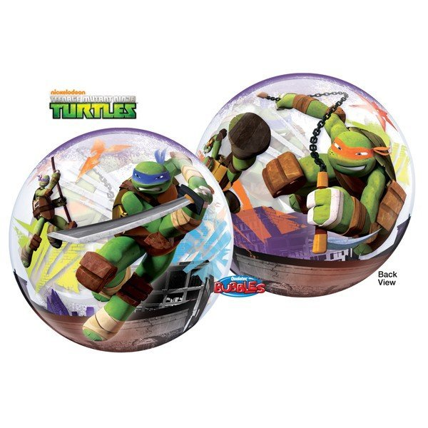 Qualatex 22 Inch Single Bubble Balloon - TMNT