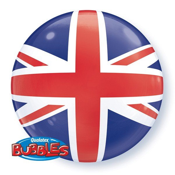 Qualatex 22 Inch Single Bubble Balloon - Union Jack