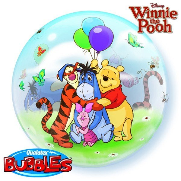 Qualatex 22 Inch Single Bubble Balloon - Winnie The Pooh
