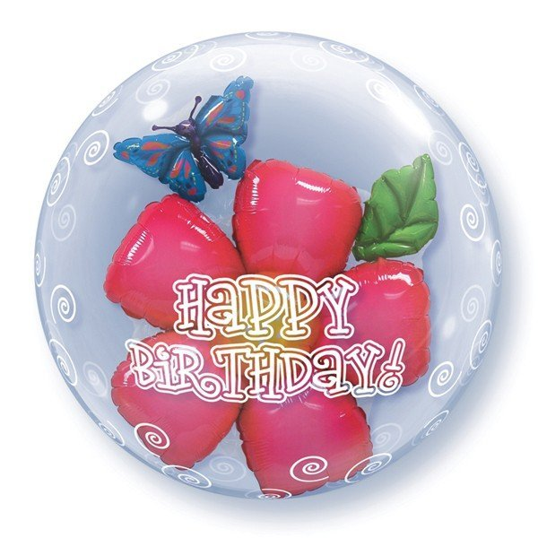Qualatex 24 Inch Double Bubble Balloon - Birthday Flower