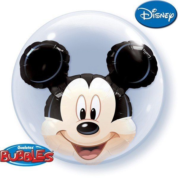 Qualatex 24 Inch Double Bubble Balloon - Mickey Mouse