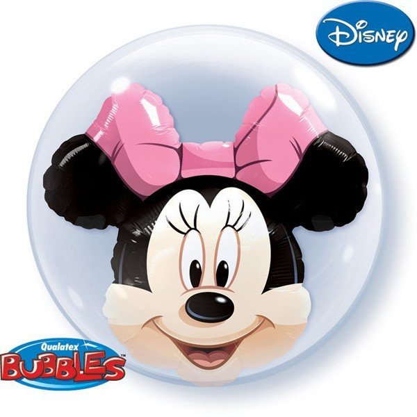 Qualatex 24 Inch Double Bubble Balloon - Minnie Mouse