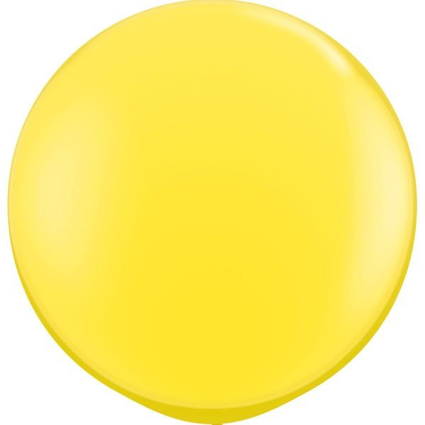Qualatex 24 Inch Round Plain Latex Balloon - Yellow