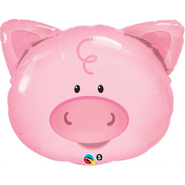 Qualatex 30 Inch Shaped Foil Balloon - Playful Pig