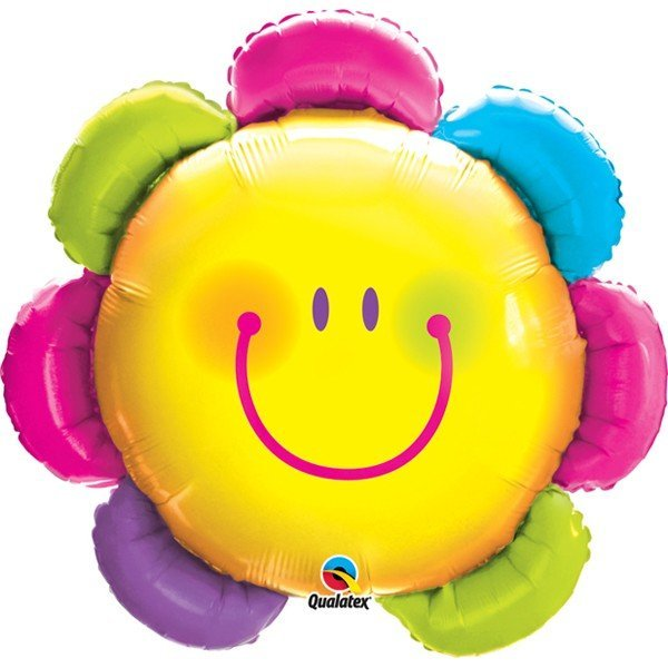 Qualatex 32 Inch Shaped Foil Balloon - Funny Face Flower