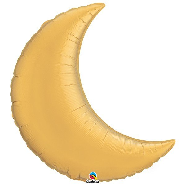 Qualatex 35 Inch Shaped Foil Balloon - Crescent Moom Gold