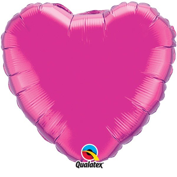 Qualatex 36 Inch Heart Plain Foil Balloon - Magenta