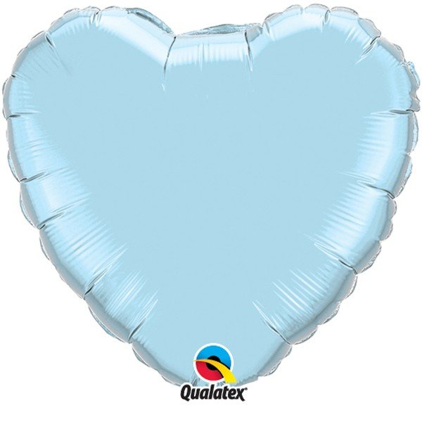 Qualatex 36 Inch Heart Plain Foil Balloon - Pearl Lite Blue