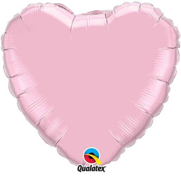 Qualatex 36 Inch Heart Plain Foil Balloon - Pearl Pink