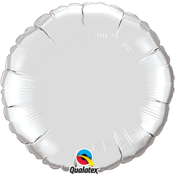 Qualatex 36 Inch Round Plain Foil Balloon - Silver