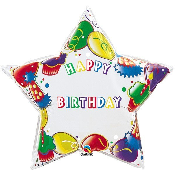 Qualatex 36 Inch Shaped Foil Balloon - Birthday Party-Num/Name
