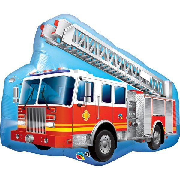 Qualatex 36 Inch Shaped Foil Balloon - Red Fire Truck