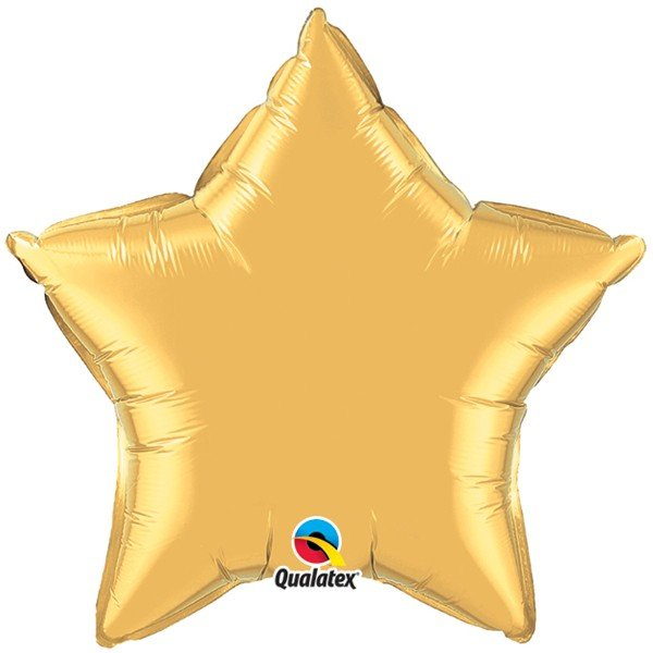 Qualatex 36 Inch Star Plain Foil Balloon - Matallic Gold