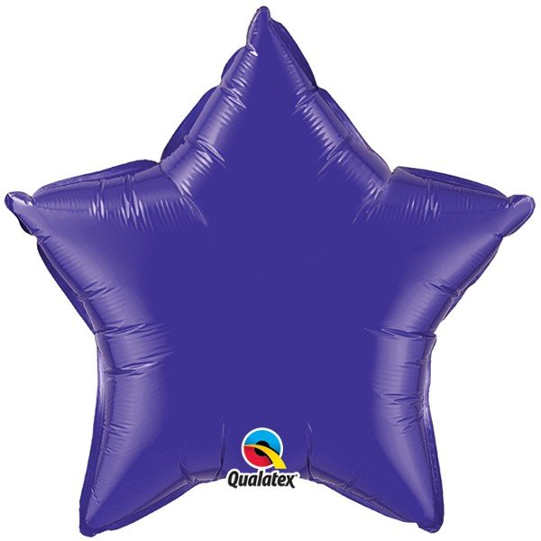 Qualatex 36 Inch Star Plain Foil Balloon - Quartz Purple