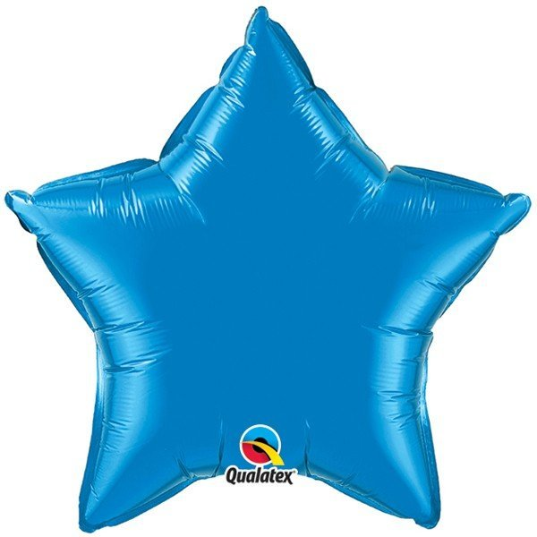 Qualatex 36 Inch Star Plain Foil Balloon - Sapphire Blue