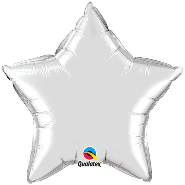Qualatex 36 Inch Star Plain Foil Balloon - Silver