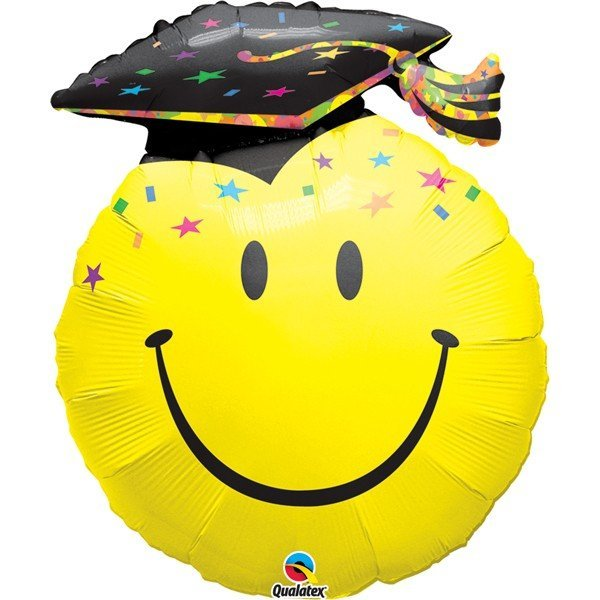 Qualatex 36 Inch Supershape Foil Balloon - Smile Face Party Grad