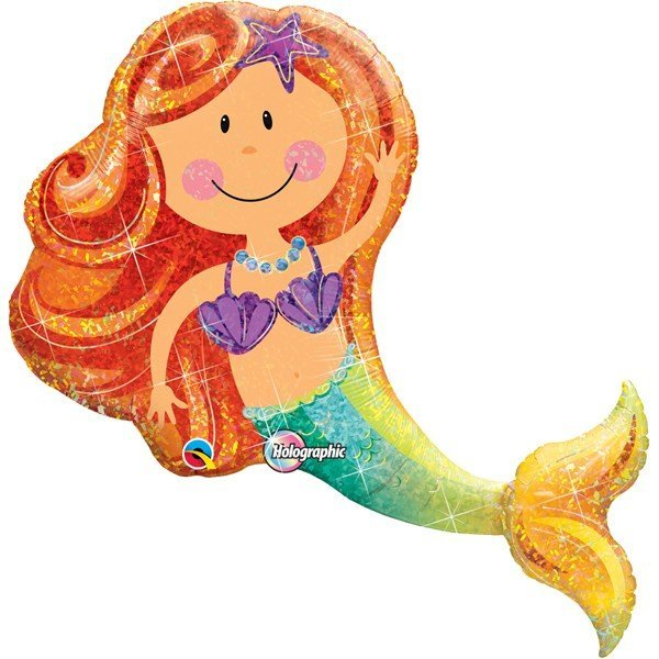 Qualatex 38 Inch Shaped Foil Balloon - Merry Mermaid