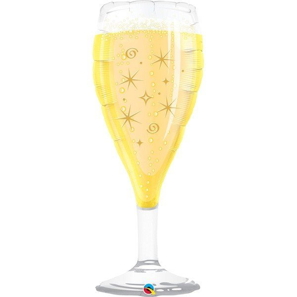 Qualatex 39 Inch Shaped Foil Balloon - Bubbly Wine Glass
