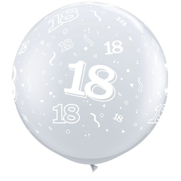 Qualatex 3 Foot Clear Latex Balloon - 18 Around