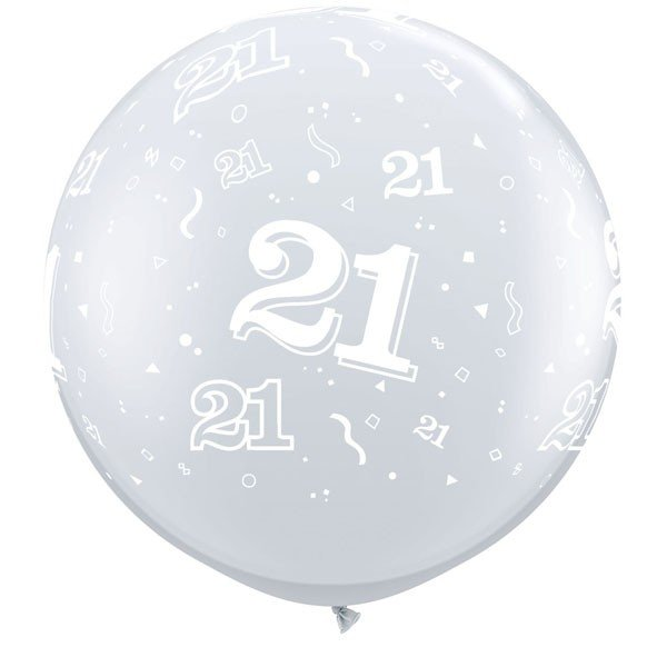 Qualatex 3 Foot Clear Latex Balloon - 21 Around