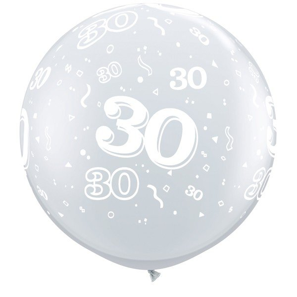 Qualatex 3 Foot Clear Latex Balloon - 30 Around