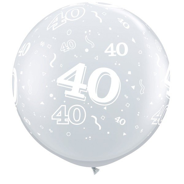 Qualatex 3 Foot Clear Latex Balloon - 40 Around