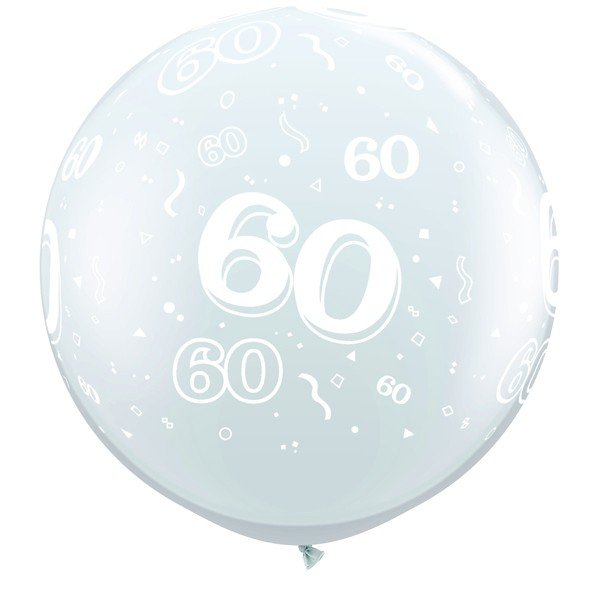Qualatex 3 Foot Clear Latex Balloon - 60 Around