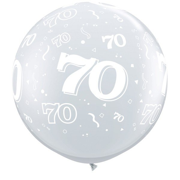 Qualatex 3 Foot Clear Latex Balloon - 70 Around