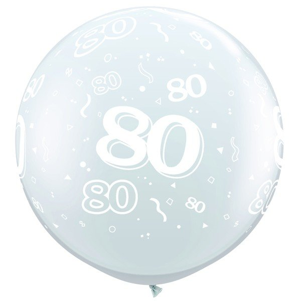 Qualatex 3 Foot Clear Latex Balloon - 80 Around