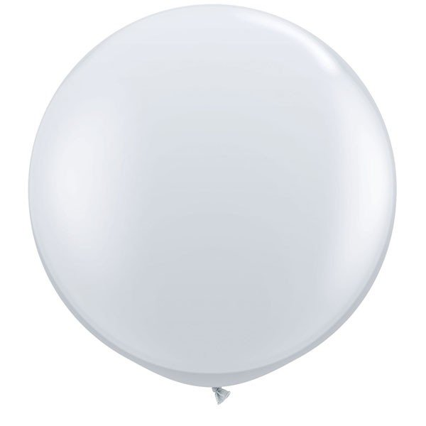 Qualatex 3 Ft Round Plain Latex Balloon - Diamond Clear