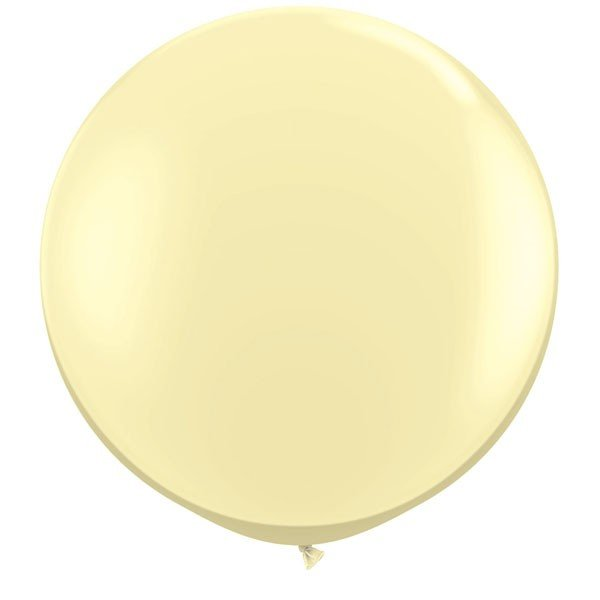 Qualatex 3 Ft Round Plain Latex Balloon - Ivory Silk